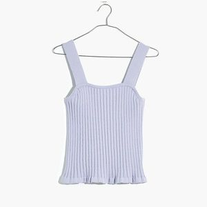 Madewell Ribbed Sweater Tank in Lilac